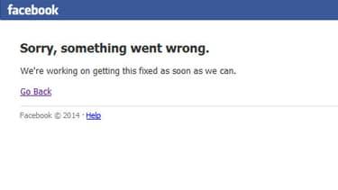 Facebook est en panne.