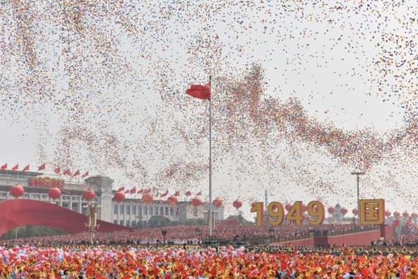Sur la place Tiananmen, à Pékin, le 1er octobre.