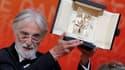 """""""Amour"""", de Michael Haneke, a remporté dimanche la Palme d'Or du 65e Festival de Cannes. /Photo prise le 27 mai 2012/REUTERS/Eric Gaillard"""