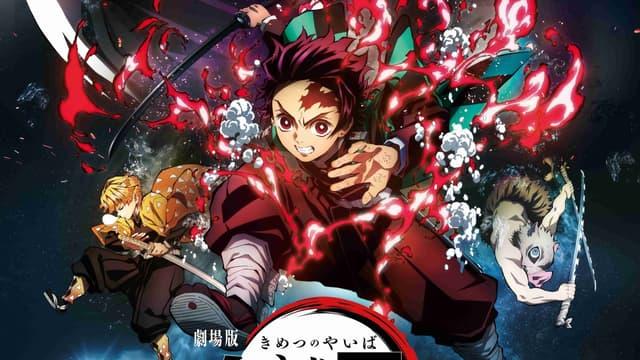 "Affiche du film ""Demon Slayer: Kimetsu no Yaiba - Le Train de l'Infini"""