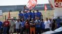 Des salariés de GM&S bloquant le site de Renault
