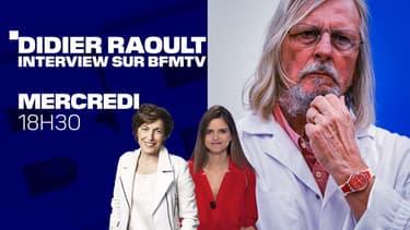Didier Raoult, invité de BFMTV