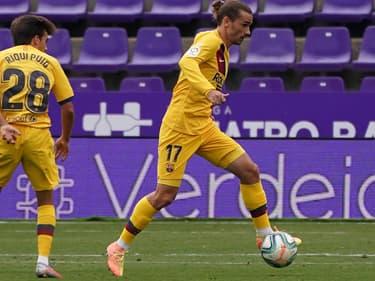 Antoine Griezmann touché lors de Valladolid-Barça