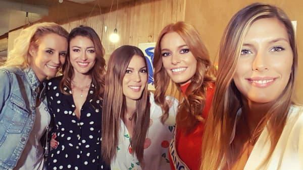 Elodie Gossuin, Rachel Legrain-Trapani, Iris Mittenaere, Maeva Coucke et Camille Cerf