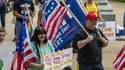 Des manifestants contre le port du masque en mai 2021 dans le New Hampshire aux États-Unis (Photo d'illustration)