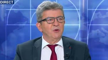 Jean-Luc Mélenchon sur le plateau de BFMTV le 22 juillet 2018