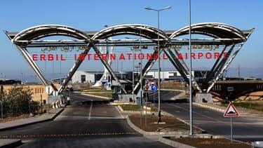 Entrée de l'aéroport international d'Erbil, au Kurdistan irakien