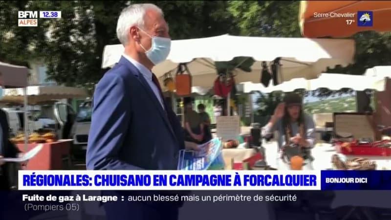 Élections régionales: Noël Chuisano en campagne à Forcalquier