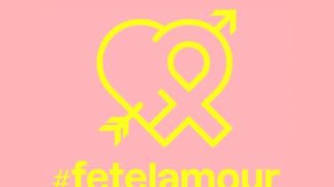 """Le logo de """"Fête l'amour"""""""