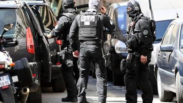 Des membres du Raid, le 18 avril 2017 à Marseille. (Photo d'illustration)