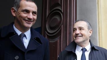 Gilles Simeoni (à gauche) et Jean Guy Talamoni (à droite), le 3 décembre 2017.