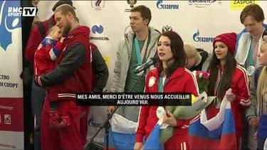 JO 2018 : les athlètes russes de retour à Moscou