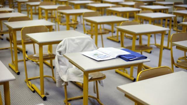 Une salle d'examen dans un lycéen parisien (photo d'illustration)