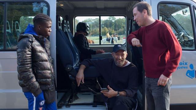 Bryan Mialoundama, Vincent Cassel et Reda Kateb dans Hors normes.