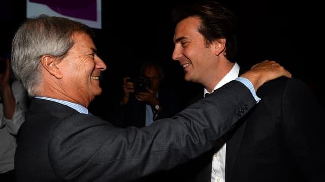 Vincent Bolloré et son fils Yannick