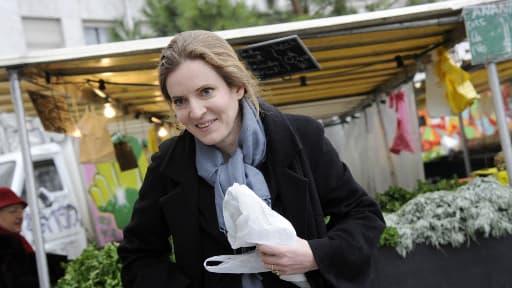 Nathalie Kosciusko-Morizet sur un marché parisien en mars dernier.