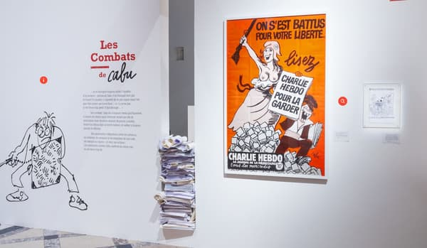Visite virtuelle de l'exposition Le Rire de Cabu, à l'Hôtel de ville de Paris.