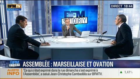 BFM Story: Hommage aux victimes des attentas: Marseillaise et ovations à l'Assemblée nationale – 13/01