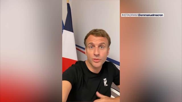 Emmanuel Macron a publié ce lundi 2 août une vidéo sur son compte Instagram