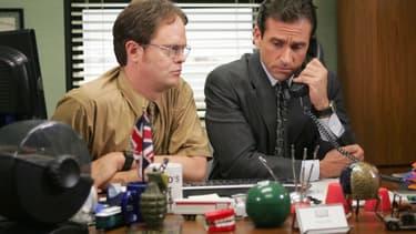 """Rainn Wilson et Steve Carell dans """"The Office"""""""