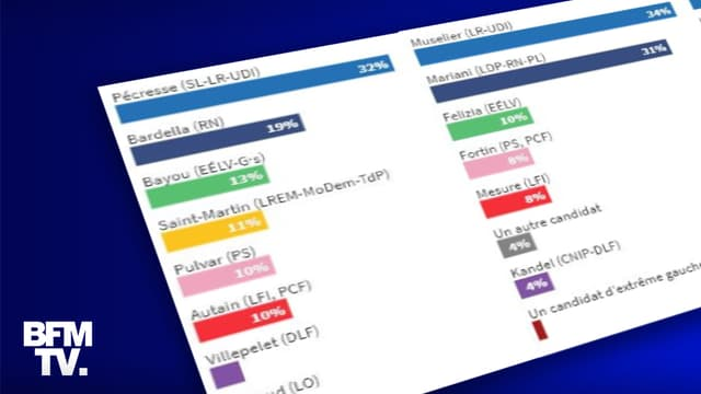 INFOGRAPHIES. Élections régionales : ce que disent les sondages quelques semaines du scrutin