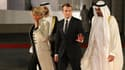 Emmanuel Macron en visite à Abu Dhabi avec son épouse Brigitte Macron, le 8 novembre 2017.