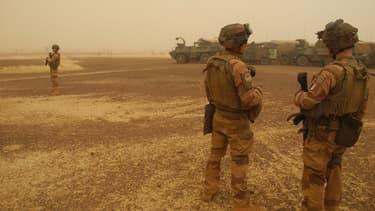 Soldats de la force Barkhane au Mali le 26 mars 2019