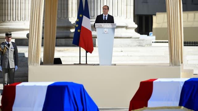 François Hollande, lors de son discours au Panthéon, le 27 mai 2015
