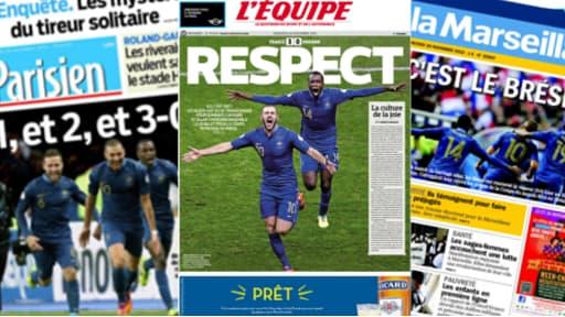 La presse est dithyrambique mercredi sur les Bleus.