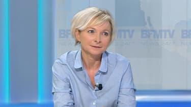 Hélène Fresnel, journaliste à Psychologies Magazine et compagne de Bernard Maris, sur BFMTV le 5 janvier 2015.
