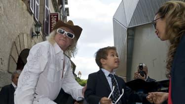 Michel Polnareff aux côtés de sa compagne Danyellah et son fils Louka