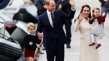 Kate, William et leurs enfants, George et Charlotte, en voyage au Canada, en 2016.