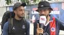 Le youtubeur Boumé Sama (à droite) et son ami Axel, après leur Marseille-Paris à pied