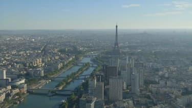 Paris pendant un épisode de pollution à l'ozone.