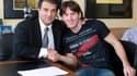 Joan Laporta et Lionel Messi, en 2009