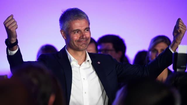 Laurent Wauquiez, candidat à la présidence des Républicains, lors d'un meeting de campagne à Paris, le 20 novembre 2017