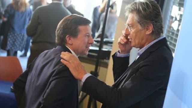 Gilles Pelisson (PDG de TF1) et Nicolas de Tavernost (président du directoire de M6) lors des voeux du CSA