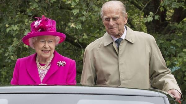 Le Prince Philip et la reine Elizabeth II à Londres en 2016