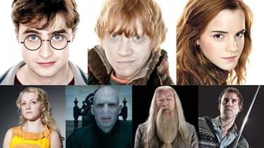 Les héros de la saga Harry Potter.