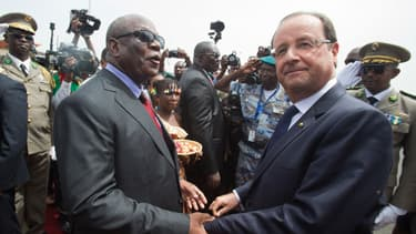 François Hollande et son homologue malien IBK.