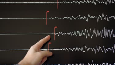 Un sismographe (illustration).