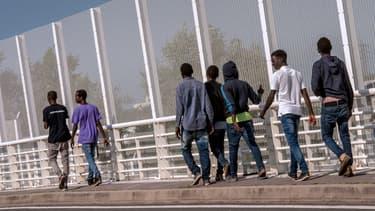 Des migrants près de Calais, le 8 septembre 2016.