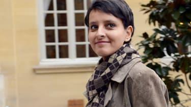 Najat Vallaud-Belkacem, porte-parole du gouvernement, à Matignon le 4 janvier 2013