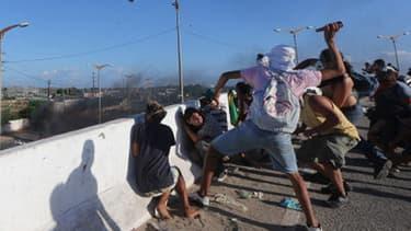 Des manifestants à Fortaleza