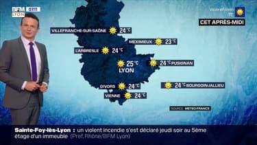 Météo: un temps ensoleillé ce samedi, des températures au-dessus des moyennes de saison, jusqu'à 25°C à Lyon