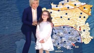 Évelyne Dhéliat et la petite Emma