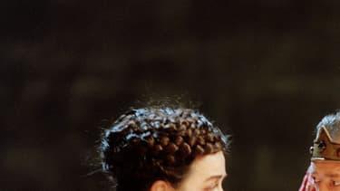 Dominique Valadie, Carlo Brandt et Michel Didym le 9 Juillet 1996 dans la pièce Edward II de Christopher Marlowe.