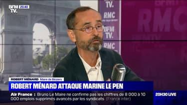 Présidentielle: Robert Ménard prend ses distances avec Marine Le Pen