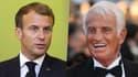 Emmanuel Macron et Jean-Paul Belmondo.