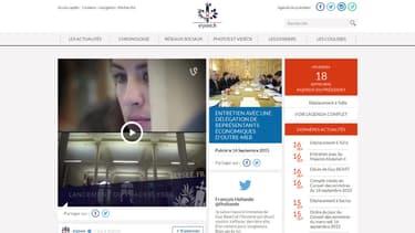 Le nouveau site Internet de l'Elysée laisse la part belle aux vines et au tweets tout en restant sérieux sur le fond